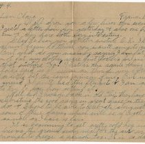Image of 121_2015.162.4_reid Fields To Clara Wrasse_november 18, 1918_page 01