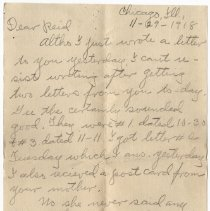 Image of 126_2015.162.4_clara Wrasse To Reid Fields_november 29, 1918_page 01