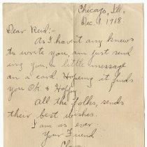 Image of 128_2015.162.4_clara Wrasse To Reid Fields_december 1, 1918