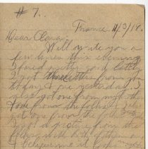 Image of 130_2015.162.4_reid Fields To Clara Wrasse_december 3, 1918_page 01