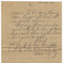 Image of 130_2015.162.4_reid Fields To Clara Wrasse_december 3, 1918_page 06
