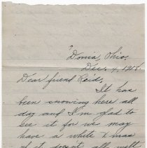 Image of 132_2015.162.4_mary Hinde To Reid Fields_december 4, 1918_page 01