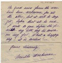 Image of 133_2015.162.4_marthe Hochereau To Reid Fields_december 8, 1918_page 04