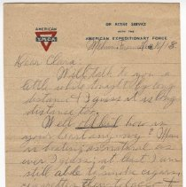 Image of 135_2015.162.4_reid Fields To Clara Wrasse_december 10, 1918_page 01