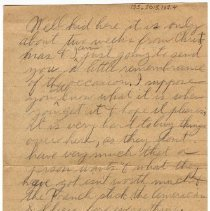 Image of 135_2015.162.4_reid Fields To Clara Wrasse_december 10, 1918_page 02
