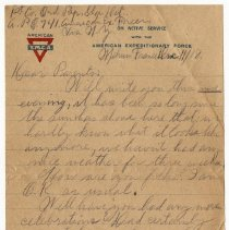 Image of 136_2015.162.4_reid Fields To Parents_december 11, 1918_page 01