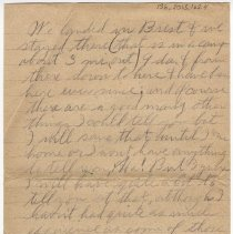 Image of 136_2015.162.4_reid Fields To Parents_december 11, 1918_page 02