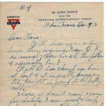 Image of 139_2015.162.4_reid Fields To Clara Wrasse_december 17, 1918_page 01