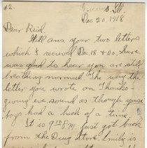 Image of 141_2015.162.4_clara Wrasse To Reid Fields_december 20, 1918_page 01