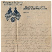 Image of 143_2015.162.4_reid Fields To Clara Wrasse_december 27, 1918_page 03