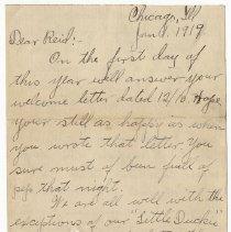 Image of 145_2015.162.4_clara Wrasse To Reid Fields_january 1, 1919_page 01