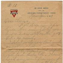 Image of 148_2015.162.4_reid Fields To Clara Wrasse_january 6, 1919_page 01