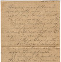 Image of 148_2015.162.4_reid Fields To Clara Wrasse_january 6, 1919_page 02
