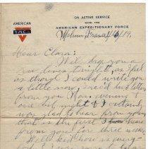 Image of 152_2015.162.4_reid Fields To Clara Wrasse_january 10, 1919_page 01