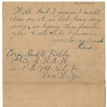 Image of 152_2015.162.4_reid Fields To Clara Wrasse_january 10, 1919_page 06