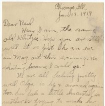 Image of 155_2015.162.4_clara Wrasse To Reid Fields_january 13, 1919_page 01