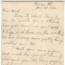 Image of 160_2015.162.4_clara Wrasse To Reid Fields_january 21, 1919_page 01