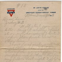 Image of 162_2015.162.4_reid Fields To Clara Wrasse_january 28, 1919_page 01