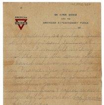 Image of 162_2015.162.4_reid Fields To Clara Wrasse_january 28, 1919_page 06
