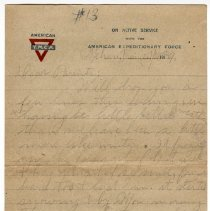 Image of 163_2015.162.4_reid Fields To Parents_january 28, 1919_page 01