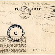 Image of 1977.13.21_back_clyde Chilson To A.f. Hewitt (sister)_june 8, 1918