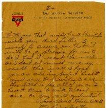 Image of 1977.13.41_robert Chilson To Sister_november 22, 1918_page 03