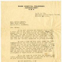 Image of 1977.13.60_lieutenant Colonel W.w. Vaughn To Lottie Hewitt_october 20, 1918