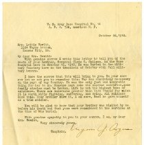 Image of 1977.13.62_byron G. Argus (chaplain) To Lottie Hewitt_october 26, 1918_page