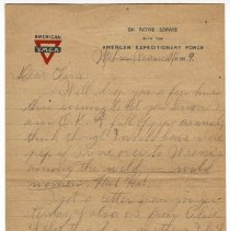 Image of 167_2015.162.4_reid Fields To Clara Wrasse_february 6, 1919_page 01