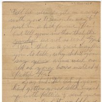 Image of 167_2015.162.4_reid Fields To Clara Wrasse_february 6, 1919_page 02