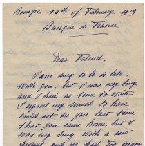 Image of 168_2015.162.4_marthe Hochereau To Reid Fields_february 10, 1919_page 01