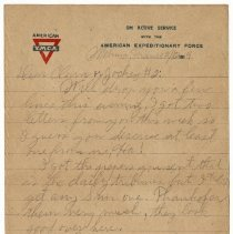 Image of 170_2015.162.4_reid Fields To Clara Wrasse_february 12, 1919_page 01
