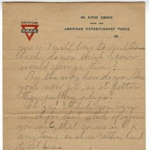 Image of 170_2015.162.4_reid Fields To Clara Wrasse_february 12, 1919_page 03