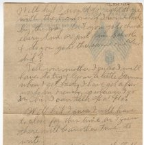 Image of 173_2015.162.4_reid Fields To Clara Wrasse_february 18, 1919_page 04