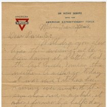 Image of 174_2015.162.4_reid Fields To Parents_february 20, 1919_page 01