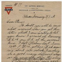 Image of 179_2015.162.4_reid Fields To Clara Wrasse_march 1, 1919_page 01