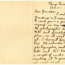 Image of 040_1982.202.1_charles Stevenson To C.a. Stevenson_december 23, 1917_page 0