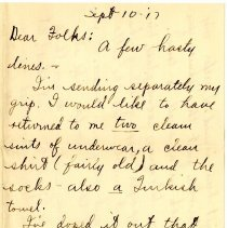Image of 004_1982.202.1_charles Stevenson To Family_september 10, 1917_page 01