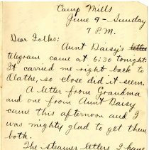Image of 076_1982.202.1_charles Stevenson To Family_june 9, 1918_page 01