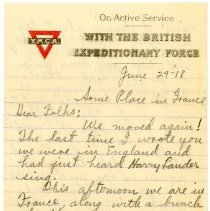 Image of 082_1982.202.1_charles Stevenson To Family_june 29, 1918_page 01