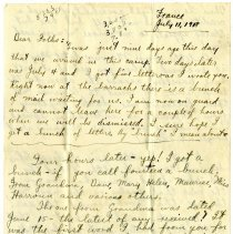 Image of 089_1982.202.1_charles Stevenson To Family_july 11, 1918_page 01