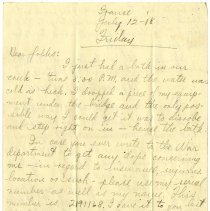 Image of 090_1982.202.1_charles Stevenson To Family_july 12, 1918_page 01