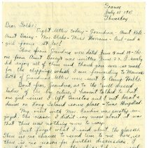 Image of 092_1982.202.1_charles Stevenson To Family_july 18, 1918_page 01