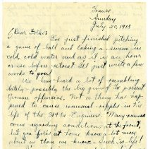 Image of 093_1982.202.1_charles Stevenson To Family_july 20, 1918_page 01