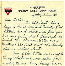 Image of 096_1982.202.1_charles Stevenson To Family_july 27, 1918_page 01