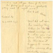 Image of 102_1982.202.1_charles Stevenson To Family_august 10, 1918_page 02