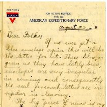 Image of 105_1982.202.1_charles Stevenson To Family_august 23, 1918_page 01