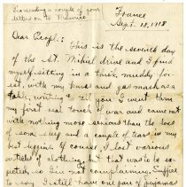 Image of 110_1982.202.1_charles Stevenson To Family_september 18, 1918_page 01