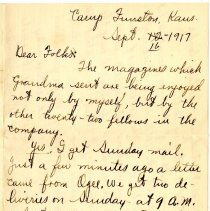 Image of 008_1982.202.1_charles Stevenson To Family_september 16, 1917_page 01