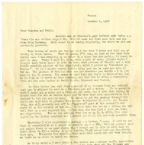 Image of 115_1982.202.1_charles Stevenson To Grandparents_october 1, 1918_page 01